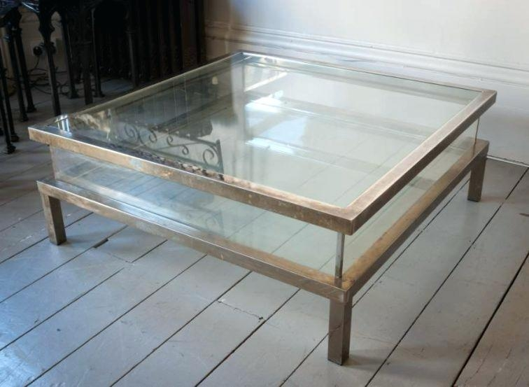 Awesome High Quality Large Square Glass Coffee Tables Within Coffee Table Square Glass Coffee Table Photos 1 Of 3square (Image 6 of 50)