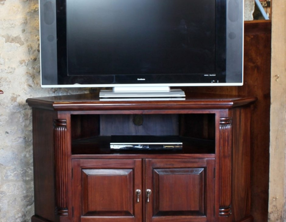 Awesome High Quality Mahogany Corner TV Cabinets For Corner Television Cabinet Mahogany Akd Furniture (Image 5 of 50)