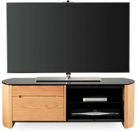Awesome High Quality Oak Veneer TV Stands Intended For Alphason Fw1100cb Oak Veneer Tv Stand Ebay (View 31 of 50)