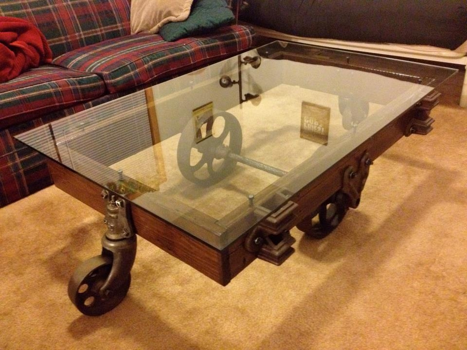 Awesome High Quality Retro Glass Coffee Tables Throughout Coffee Table On Wheels Coffee Table U203a Rustic Coffee Table (Image 9 of 50)