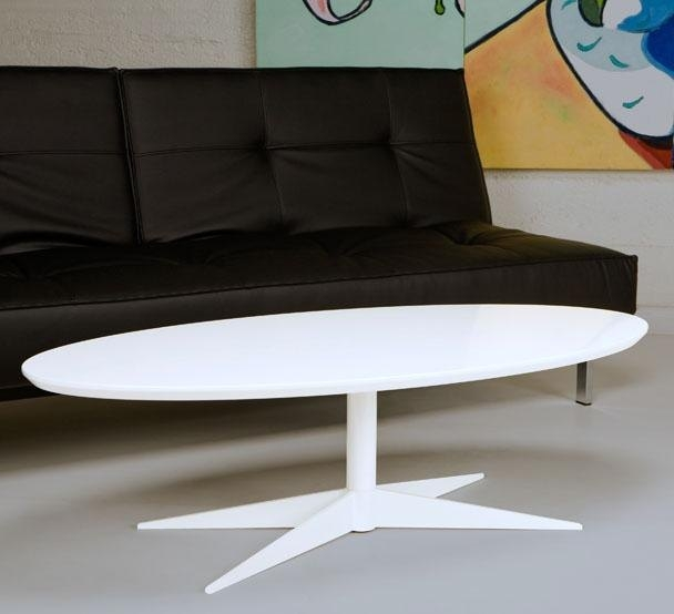 Awesome High Quality Retro White Coffee Tables Regarding Retro White Coffee Table Oval Standard Party Rentals (Image 5 of 50)
