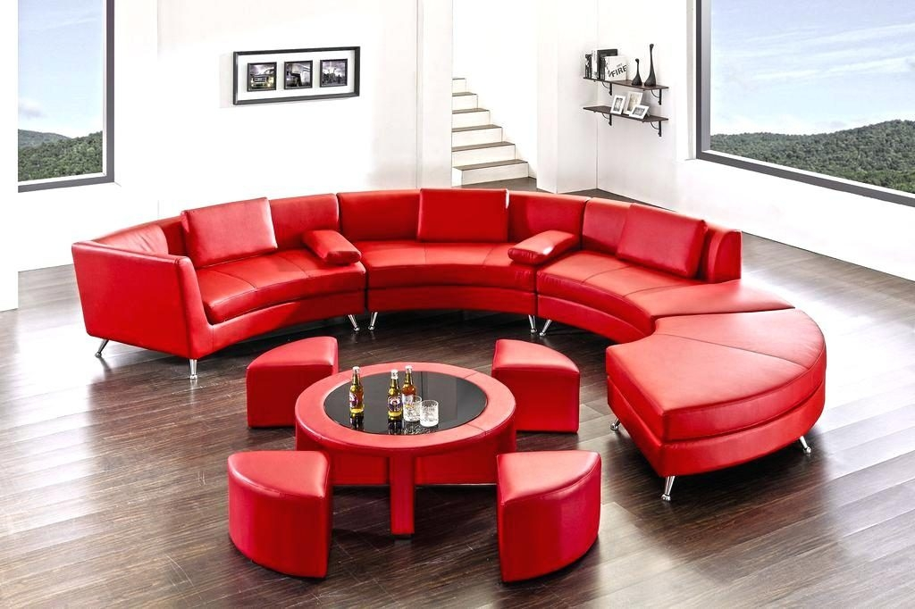 Awesome High Quality Round Red Coffee Tables With Regard To Coffee Table Red Sofa Table Coffee Setred Leather Storage (Image 5 of 50)