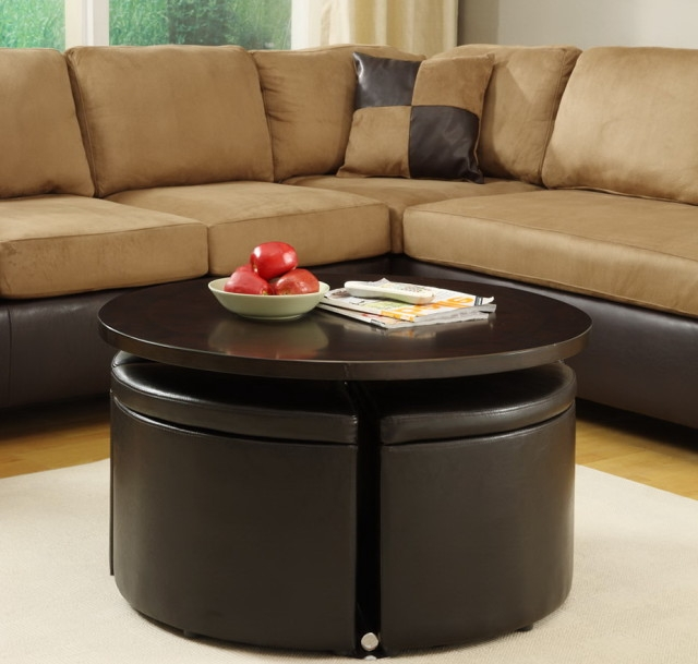 Awesome High Quality Round Storage Coffee Tables With Modern Round Coffee Table With Storage Table And Estate (View 10 of 50)