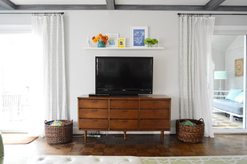 Awesome High Quality Single Shelf TV Stands Within A Cheap Easy Shelf For That Blank Spot Over The Tv Young House (View 44 of 50)