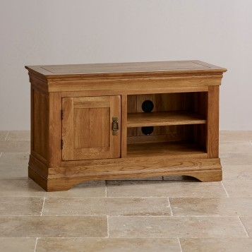 Awesome High Quality Solid Oak TV Stands In French Farmhouse Rustic Solid Oak Small Tv Stand Oak Furniture Land (Image 7 of 50)