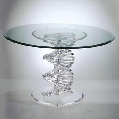Awesome High Quality Spiral Glass Coffee Table In Hstudio Dining Tables At Fosters Furniture (Image 8 of 50)