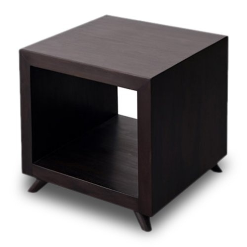 Awesome High Quality Square Dark Wood Coffee Tables For Find It At The Foundary Retro Cubic Square Side Table Dark (Image 3 of 50)