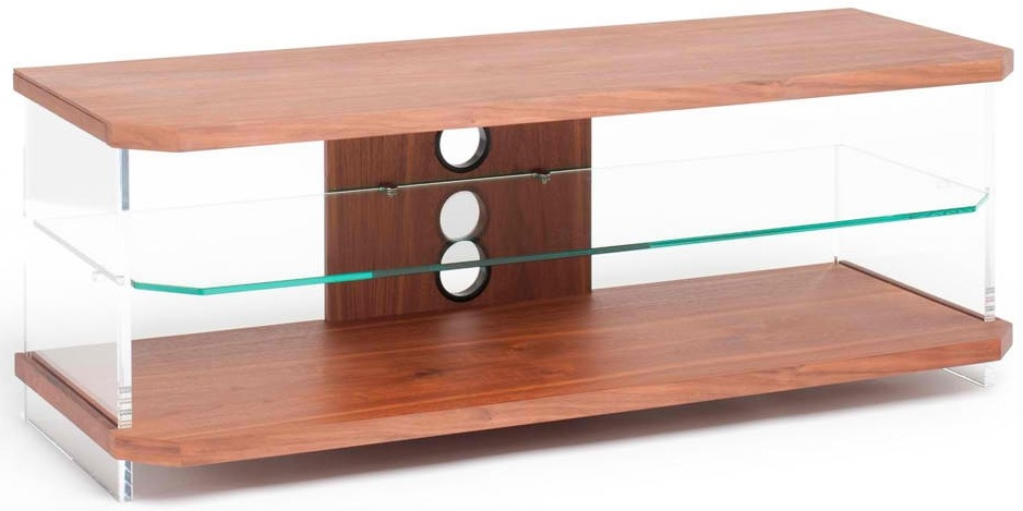 Awesome High Quality Techlink Air TV Stands Intended For Techlink Walnut Air Ai110w Acrylic And Glass Tv Stand Live Well (Image 6 of 50)