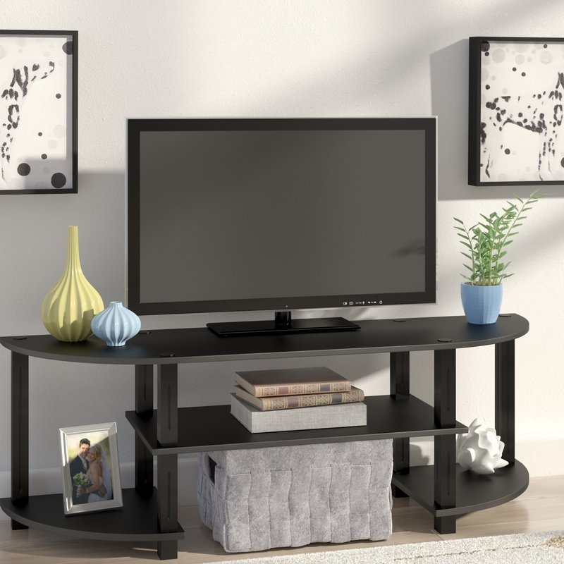 Awesome High Quality Upright TV Stands Pertaining To Extra Tall Tv Stands Wayfair (Image 4 of 50)