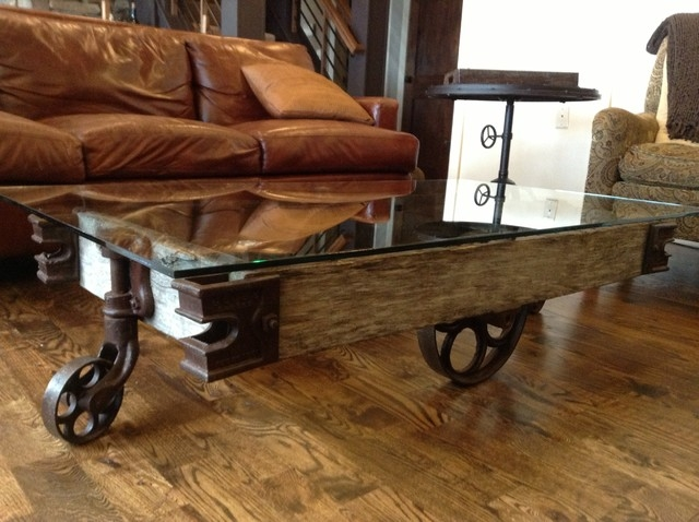 Awesome High Quality Wheels Coffee Tables With Regard To Coffee Table Charming Industrial Coffee Table With Wheels Diy (View 10 of 50)