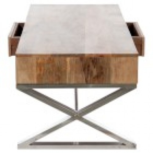 Awesome High Quality Wood Chrome Coffee Tables For Wood Chrome Coffee Table (Image 8 of 40)