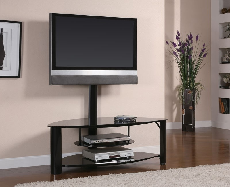 Awesome Latest Black Glass TV Stands With Regard To Tempered Black Glass Tv Stand Tv Stands (Image 10 of 50)