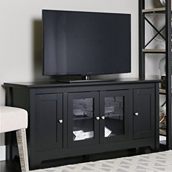 Awesome Latest Black TV Stands With Drawers Within Amazon Walker Edison 53 Wood Tv Stand Console With Storage (Image 8 of 50)