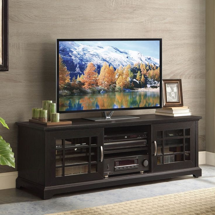 Awesome Latest Black TV Stands With Glass Doors Inside Best 25 Whalen Tv Stand Ideas On Pinterest Apartment Bedroom (Image 6 of 50)