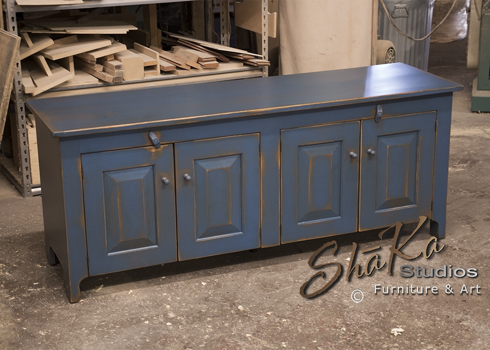 Awesome Latest Blue TV Stands Throughout Shaka Studios Custom Furniture Henegar 60 Inch Blue Tv Stand For (Image 7 of 50)