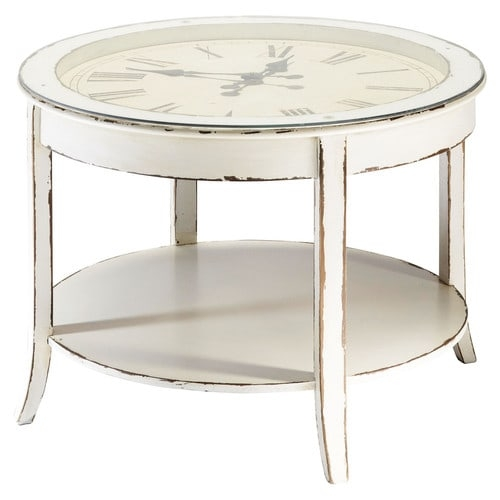 Awesome Latest Clock Coffee Tables Round Shaped Regarding Odd Shaped Coffee Tables 9 Glass And Wood Round Clock Coffee (Image 5 of 50)