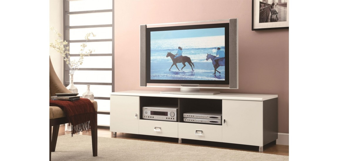 Awesome Latest Contemporary TV Stands With Regard To 700910 Large Drawers Long Cream Contemporary Tv Stand (Image 6 of 50)