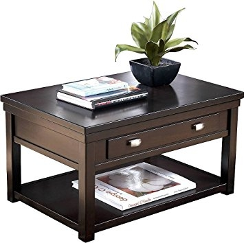 Awesome Latest Dark Coffee Tables With Regard To Amazon Ashley Furniture Signature Design Hatsuko Coffee (Image 5 of 50)