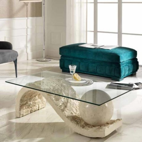 Awesome Latest Glass And Stone Coffee Table With Savona Stone Glass Coffee Table Stoondacoffee  (Image 6 of 50)