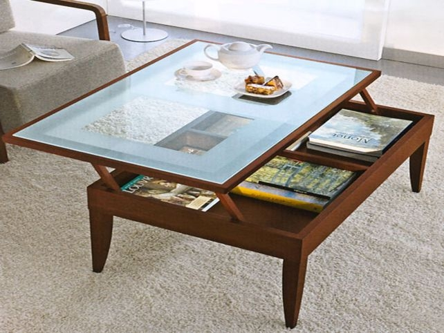 Awesome Latest Glass Top Storage Coffee Tables Regarding Elegant Glass Top Coffee Tables Ideas Glass Top Round Coffee (Image 6 of 50)
