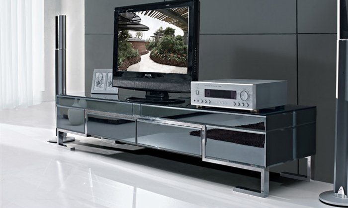 Awesome Latest Glass TV Cabinets In Steel Hand Picture More Detailed Picture About The Stylish (Image 9 of 50)