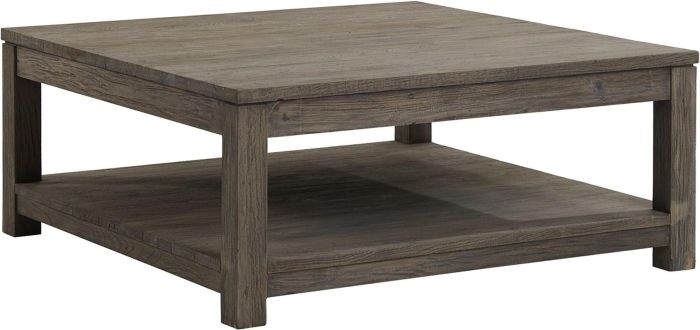 Awesome Latest Grey Coffee Tables Regarding Grey Enormous Square Wooden Coffee Table (View 26 of 50)