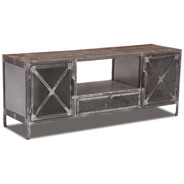 Awesome Latest Industrial Metal TV Stands Regarding Vintage Industrial Tv Stand Sie A5400 Casual Living Room (Image 3 of 50)