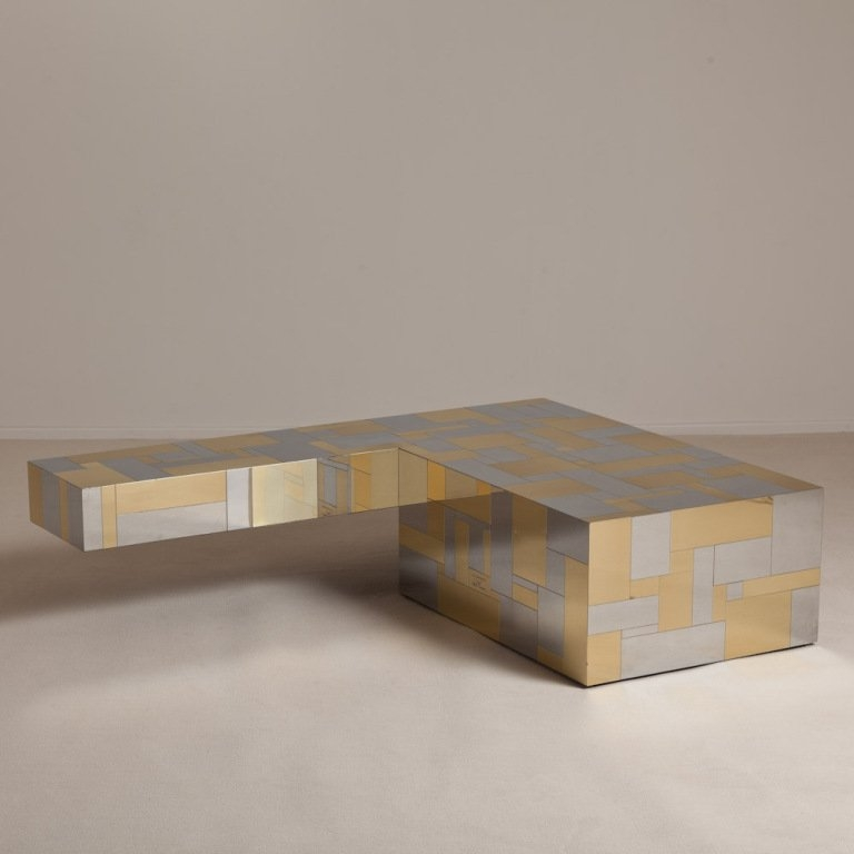 Awesome Latest L Shaped Coffee Tables With A Large L Shaped Cityscape Coffee Table Paul Evans At 1stdibs (Image 7 of 50)