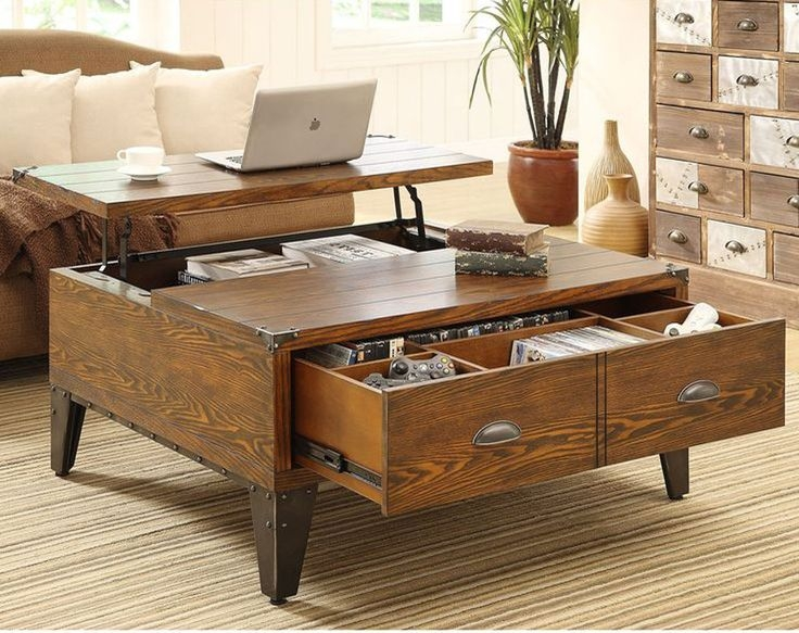 Awesome Latest Large Coffee Tables With Storage Pertaining To Best 25 Convertible Coffee Table Ideas On Pinterest Handmade (Image 9 of 50)