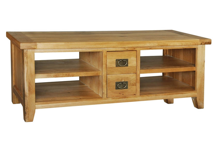Awesome Latest Large Oak TV Cabinets Pertaining To Provence Oak Tv Video Cabinet (Image 8 of 50)
