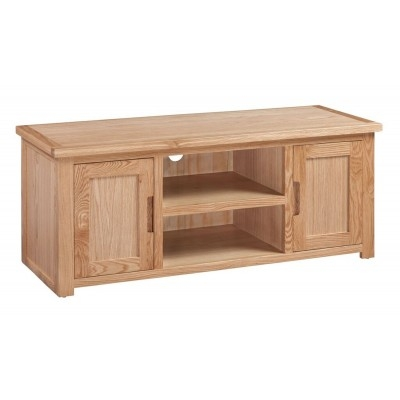 Awesome Latest Large Oak TV Stands With Oak Tv Stand Solid Oak Tv Unit Cabinet Furniture Plus (Image 6 of 50)