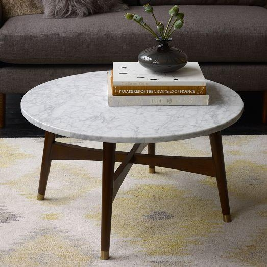 Awesome Latest Marble Round Coffee Tables Throughout Marble Coffee Table Round (Image 6 of 50)