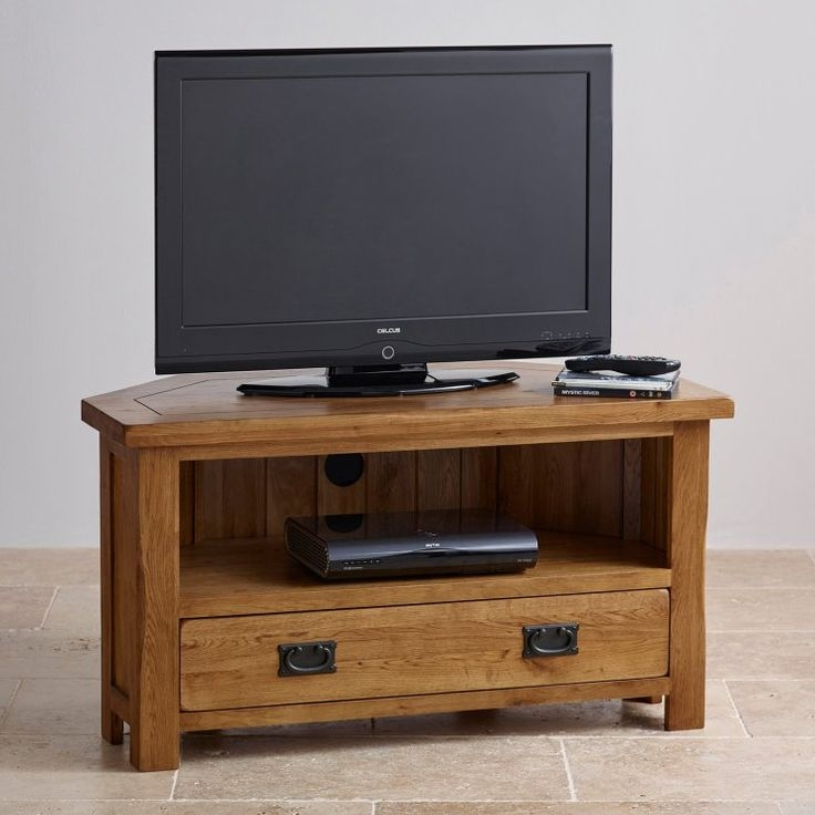 Awesome Latest Modern Corner TV Stands Inside Best 25 Oak Corner Tv Stand Ideas On Pinterest Corner Tv (View 32 of 50)