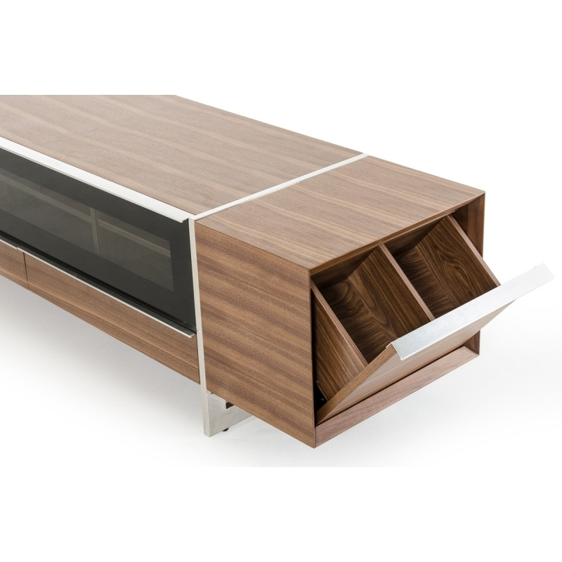 Awesome Latest Modern Walnut TV Stands Pertaining To Buy The Modrest Lorena Modern Walnut Tv Stand Vig Furniture (View 49 of 50)