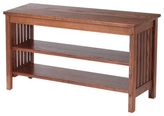 Awesome Latest Oak TV Stands Within Mission Style Solid Oak Tv Stand 41 Traditional (Image 4 of 50)