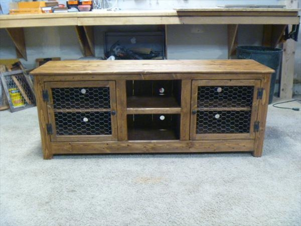 Awesome Latest Sideboard TV Stands Inside Diy Pallet Tv Stand Media Cabinet Pallet Sideboard 101 Pallets (Image 11 of 50)