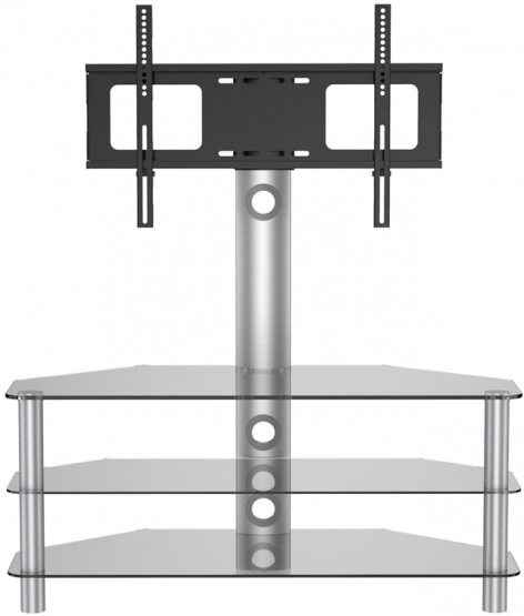 Awesome Latest Smoked Glass TV Stands Intended For Vivanco Brisa 120cm Glass Tv Stand With Bracket Gay Times  (View 48 of 50)