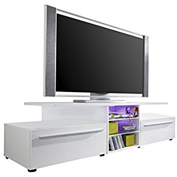 Awesome Latest Stil TV Stands With Regard To Stil Stand High Gloss White Oval Tv Stand Amazoncouk Electronics (View 30 of 49)
