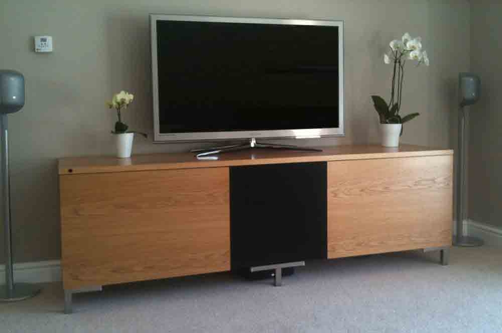 Awesome Latest TV Stands Cabinets Pertaining To Oak Av Furniture Oak Av Cabinets Oak Tv Stands Oak Media Wall (View 19 of 50)