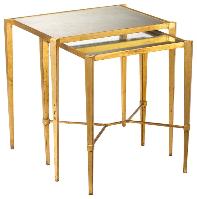 Awesome New Antique Mirrored Coffee Tables Within Gold Leaf Mirrored Coffee Table Vanities Decoration (Image 4 of 40)