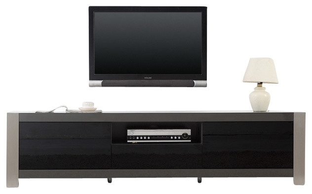 Awesome New BModern TV Stands For Coordinator Tv Stand With Black Ir Glass Modern Entertainment (View 21 of 50)