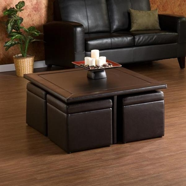 Awesome New Brown Leather Ottoman Coffee Tables With Storages With Coffee Table Charming Coffee Table With Storage Ottomans Ottoman (Image 6 of 40)