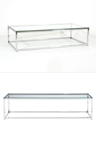 Awesome New Chrome And Glass Coffee Tables Inside Chrome Coffee Table Reserve Modern Event Rentals (Image 5 of 50)