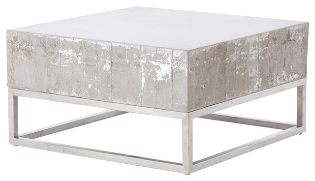 Awesome New Chrome Coffee Tables With Regard To Concrete And Chrome Coffee Table Transitional Coffee Tables (Image 9 of 50)