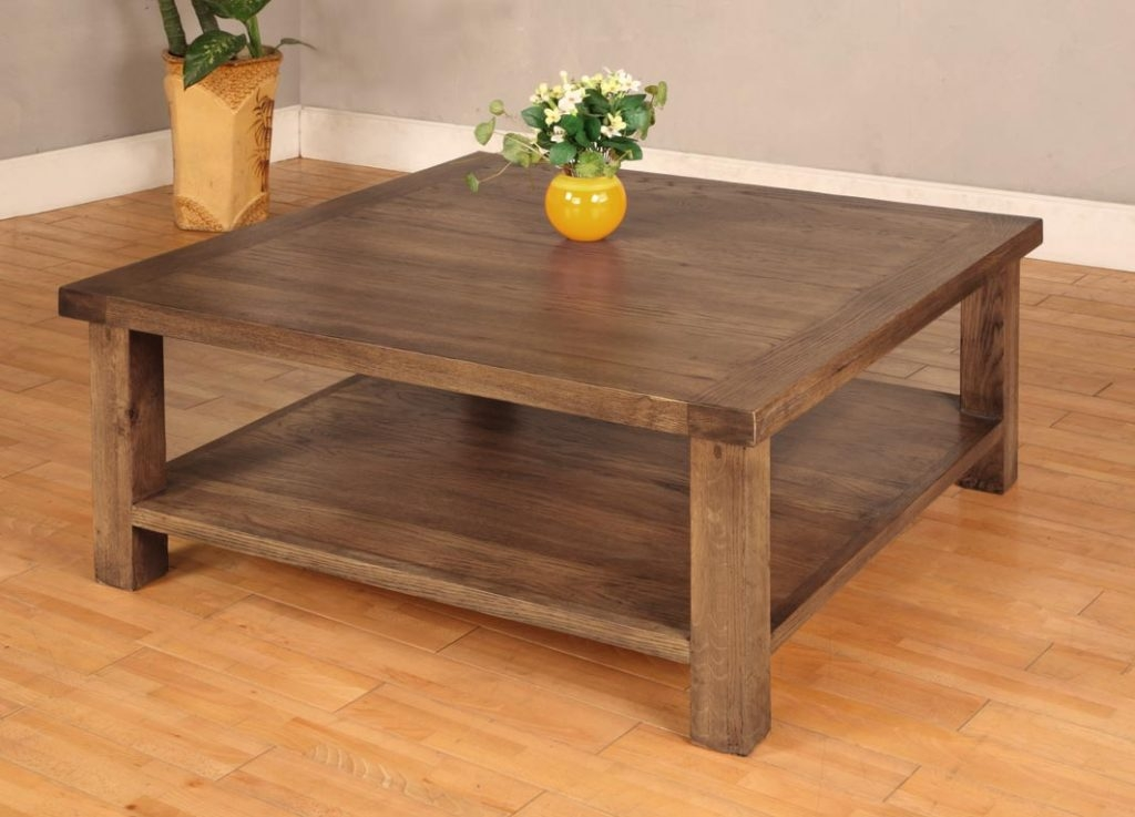 Awesome New Dark Wood Square Coffee Tables Throughout Excellent Square Coffee Tables With Storage Pictures Decoration (Image 8 of 50)
