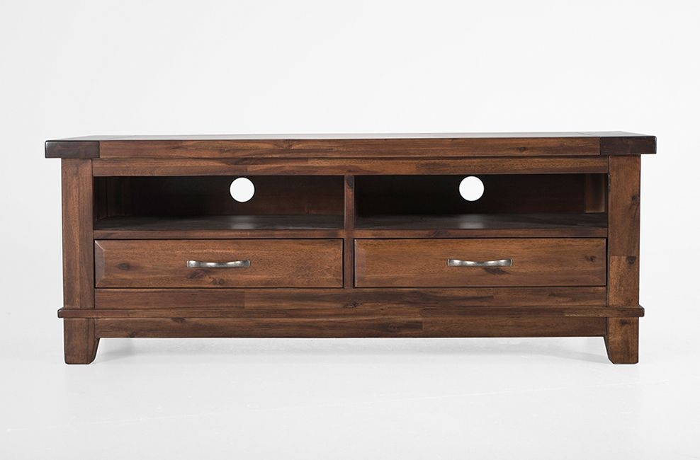 Awesome New Emerson TV Stands With Regard To Wood Tv Unit With 2 Drawers Emerson At Big Blu (Image 7 of 50)