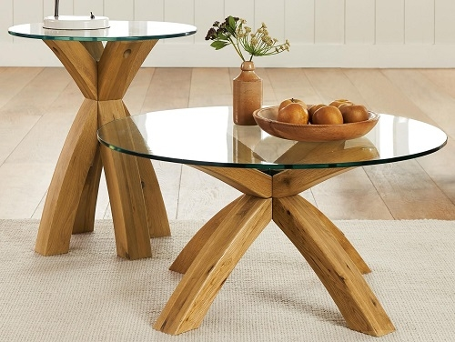 Awesome New Glass Oak Coffee Tables With Coffeetable Manufacturer In China Prd Furniture (Image 11 of 50)