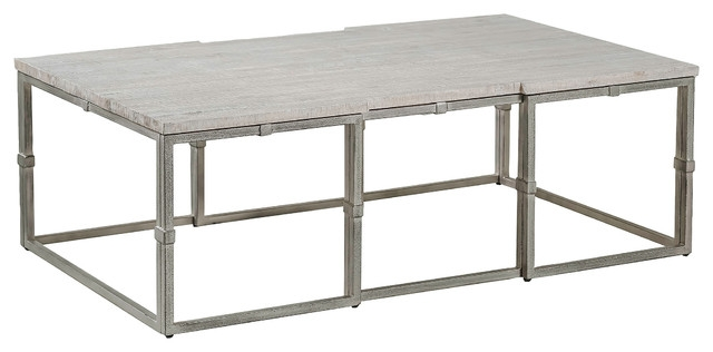 Awesome New Grey Wood Coffee Tables With Regard To Gab Alden Grey Wood Large Rectangular Coffee Table (Image 5 of 50)