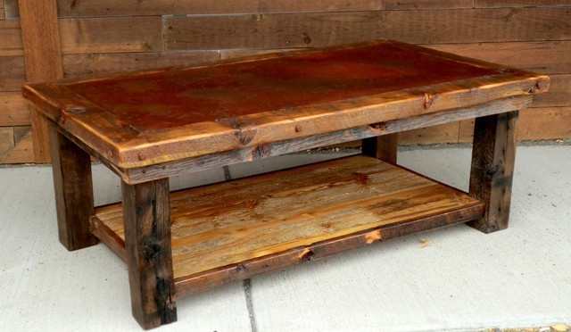 Awesome New Large Rustic Coffee Tables Intended For Furniture Remarkable Large Rustic Coffee Table Ideas Appealing (View 21 of 50)