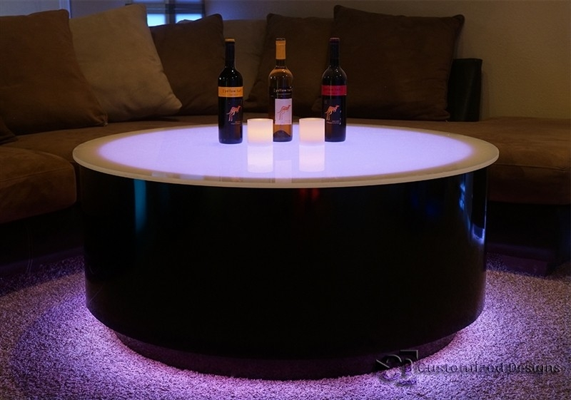 Awesome New Led Coffee Tables Within Round Cubix Led Lighted Table Led Furniture Nightclub Tables (Image 7 of 50)